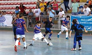 Equipes Sub-9 de Teresópolis e Vital em partida no Ginásio Pedrão