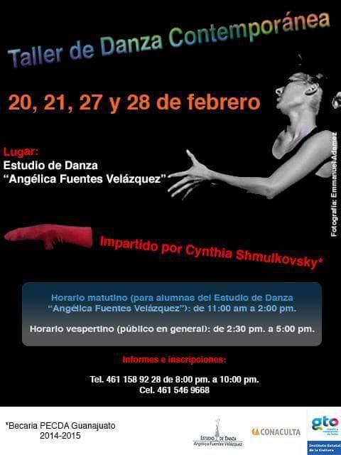 Curso de Danza, Maestra Angélica Fuentes