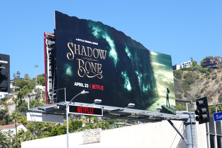 Shadow and Bone cut-out billboard