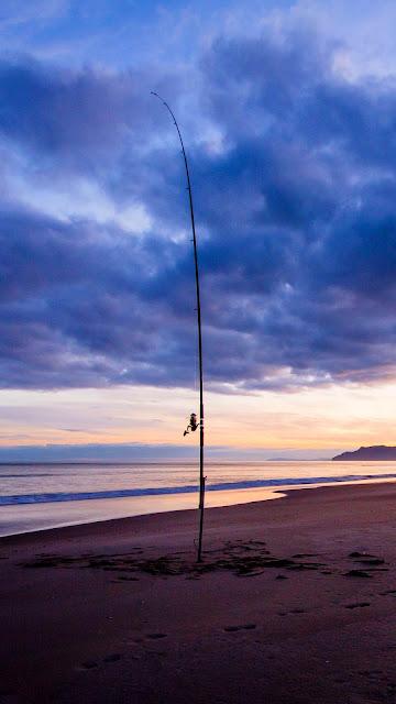 Wallpaper of peaceful beach, sea, twilight