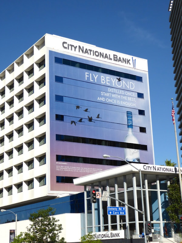 Giant Grey Goose Vodka Fly Beyond billboard 2016