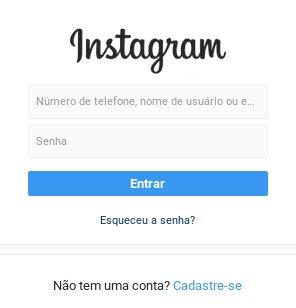 Como fazer login entrar no Instagram