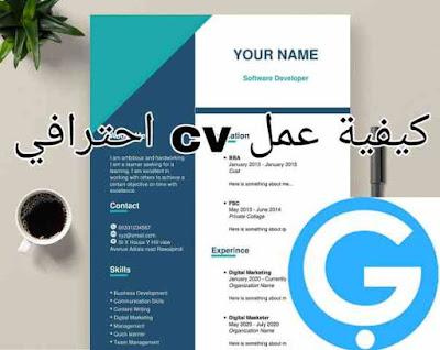 كيفية عمل cv باللغة الانجليزية