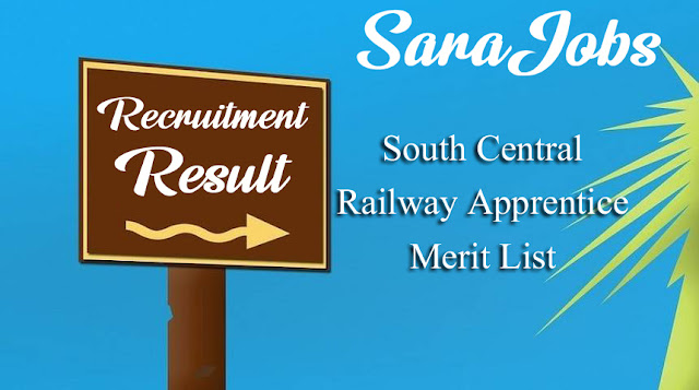 South Central Railway Apprentice Merit List 2020