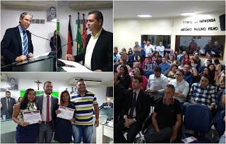 Em sessão solene, Câmara de Guarabira encerra semestre legislativo e entrega honrarias