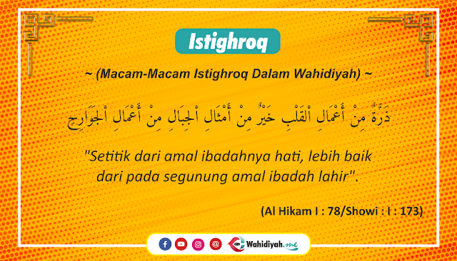 Macam-Macam Istighroq Dalam Wahidiyah
