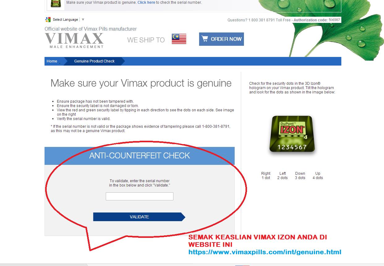 fataz produk kesihatan lelaki perempuan promosi vimax izon