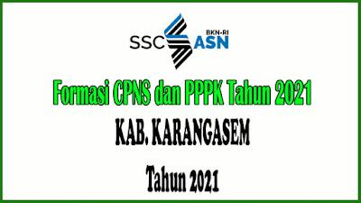 Alokasi Formasi CPNS dan PPPK KAB. KARANGASEM Tahun 2021