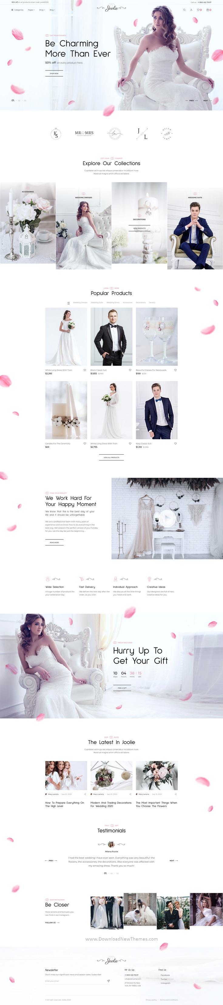 Wedding Store Figma UI Template
