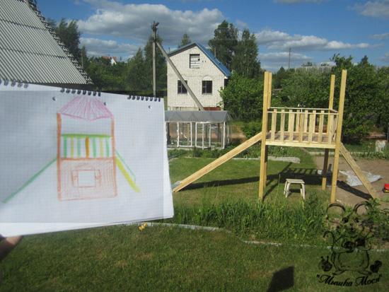 стройка полным ходом, детская территория, строим площадку