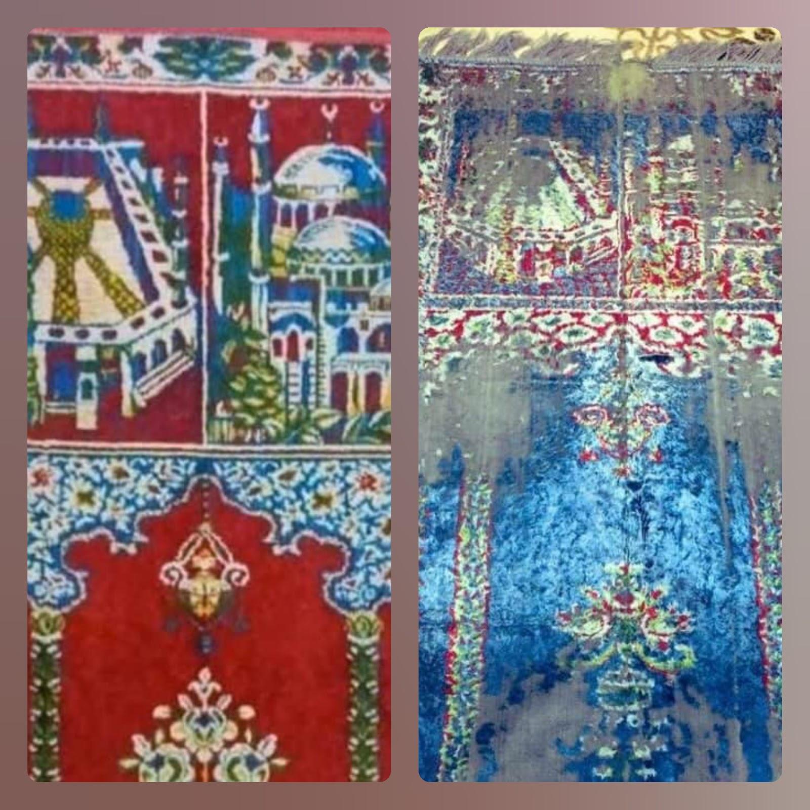 Pesan Tersembunyi di Balik Sajadah Jadul Bergambar Hagia Sophia