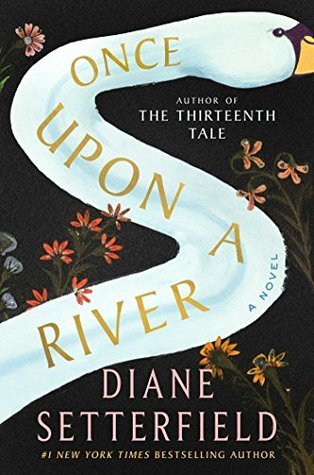 A river shaped like a swan's neck with flowers growing on the banks