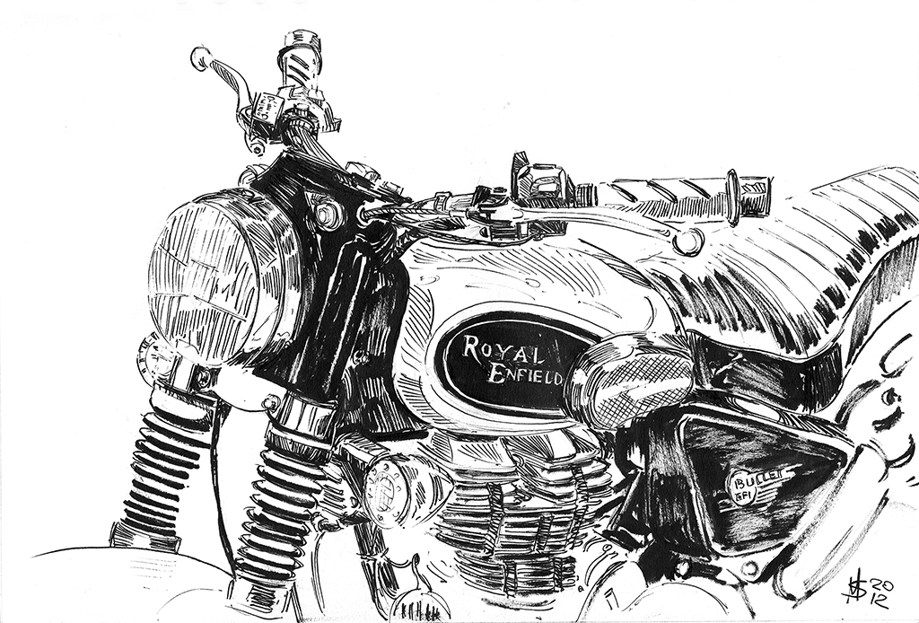 Martin Squires Automotive Illustration: Motorcycle Live ...