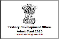Fishery Development Office Admit Card 2020