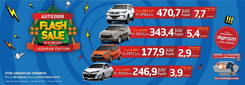 Promo Idul Fitri Lebaran 2020 Flash Sale Toyota Auto2000 Bogor