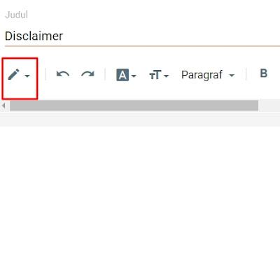 Cara membuat disclaimer online