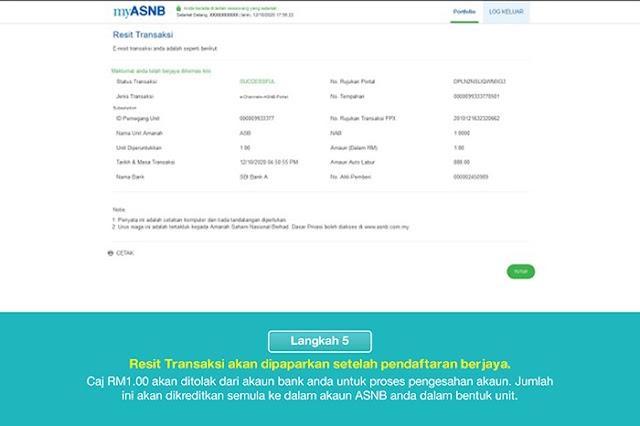 Kemudahan Auto Labur kini di aplikasi myASNB. Ini langkah dan cara daftar