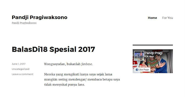 Pandji Pragiwaksono Pandji.com - Blog Pribadi Terbaik Di Indonesia