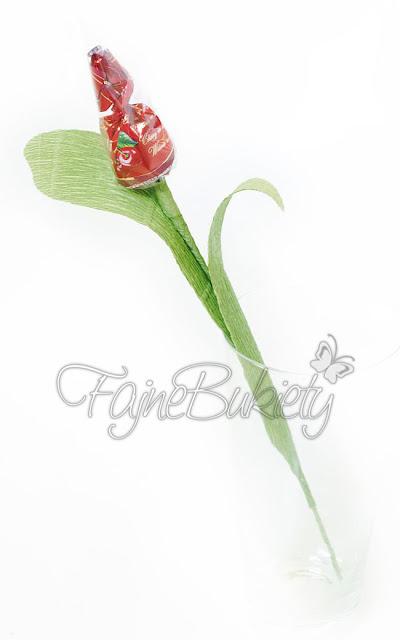 kwiat bukiet z cukierków tulipan