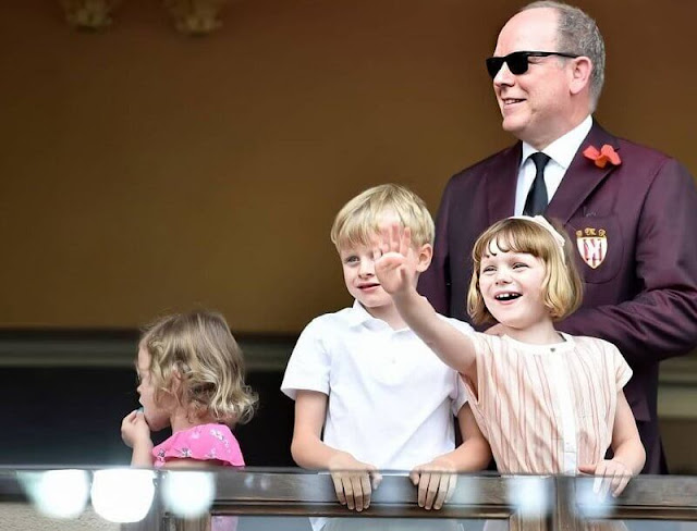 Prince Albert has appeared without his wife Princess Charlene once again as he attended a rugby match with their children