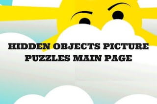 Picture Puzzles in which one has to find hidden objects