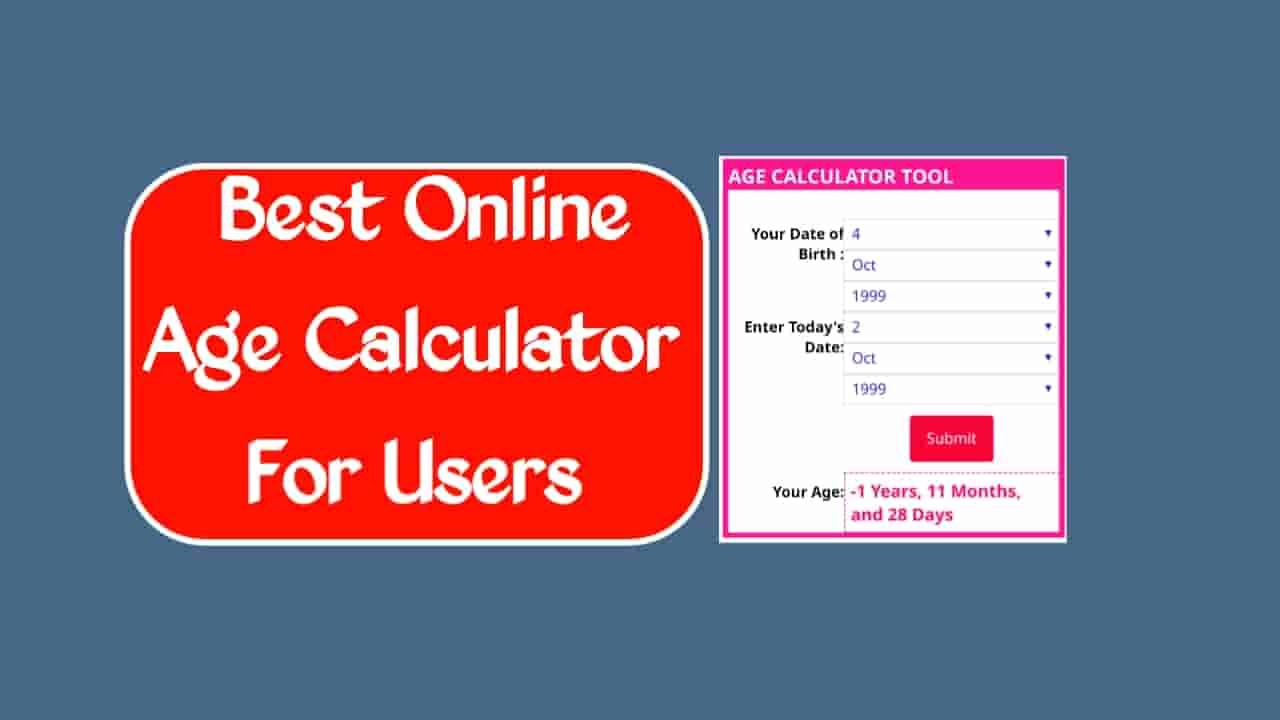 Age Calculator in Online