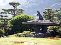 The giant Jumping Lion Lantern, Sengan-en Garden - Kagoshima, Japan