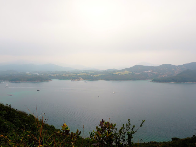 Ocean view from the hiking trail on Sharp Island, Hong Kong