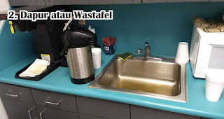 Dapur atau Wastafel menjadi tempat yang paling banyak terdapat bakteri di kantor