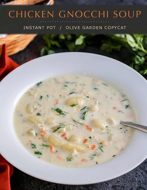 Copy Cat Olive Garden Instant Pot Chicken Gnocchi Soup