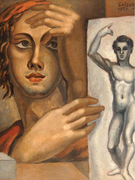El Aprendiz de Pintor (Detalle), 1950
