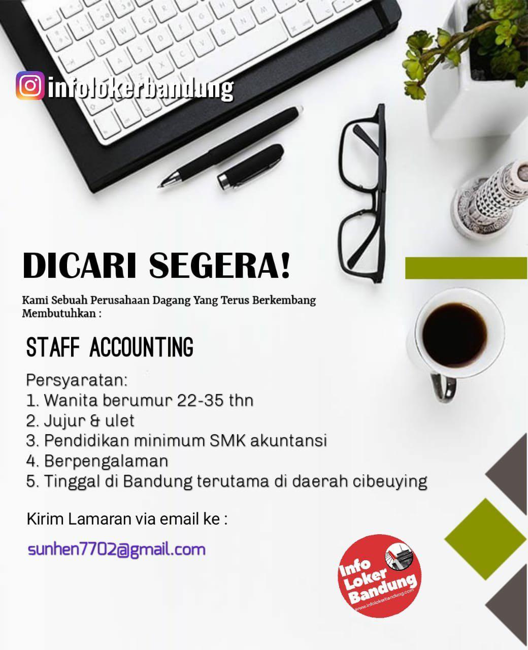 Lowongan Kerja Staff Accounting Bandung Oktober 2019