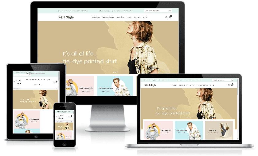 Mẫu giao diện blogspot bán hàng Thời trang
