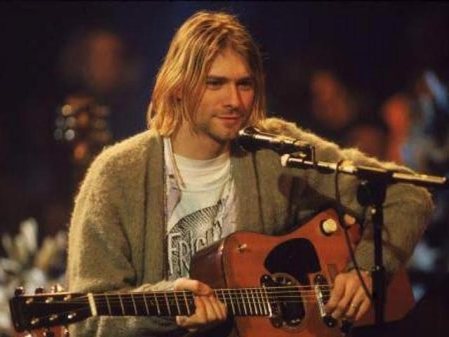 El líder de Nirvana, Kurt Cobain, durante la grabación de 'Unplugged in New York'