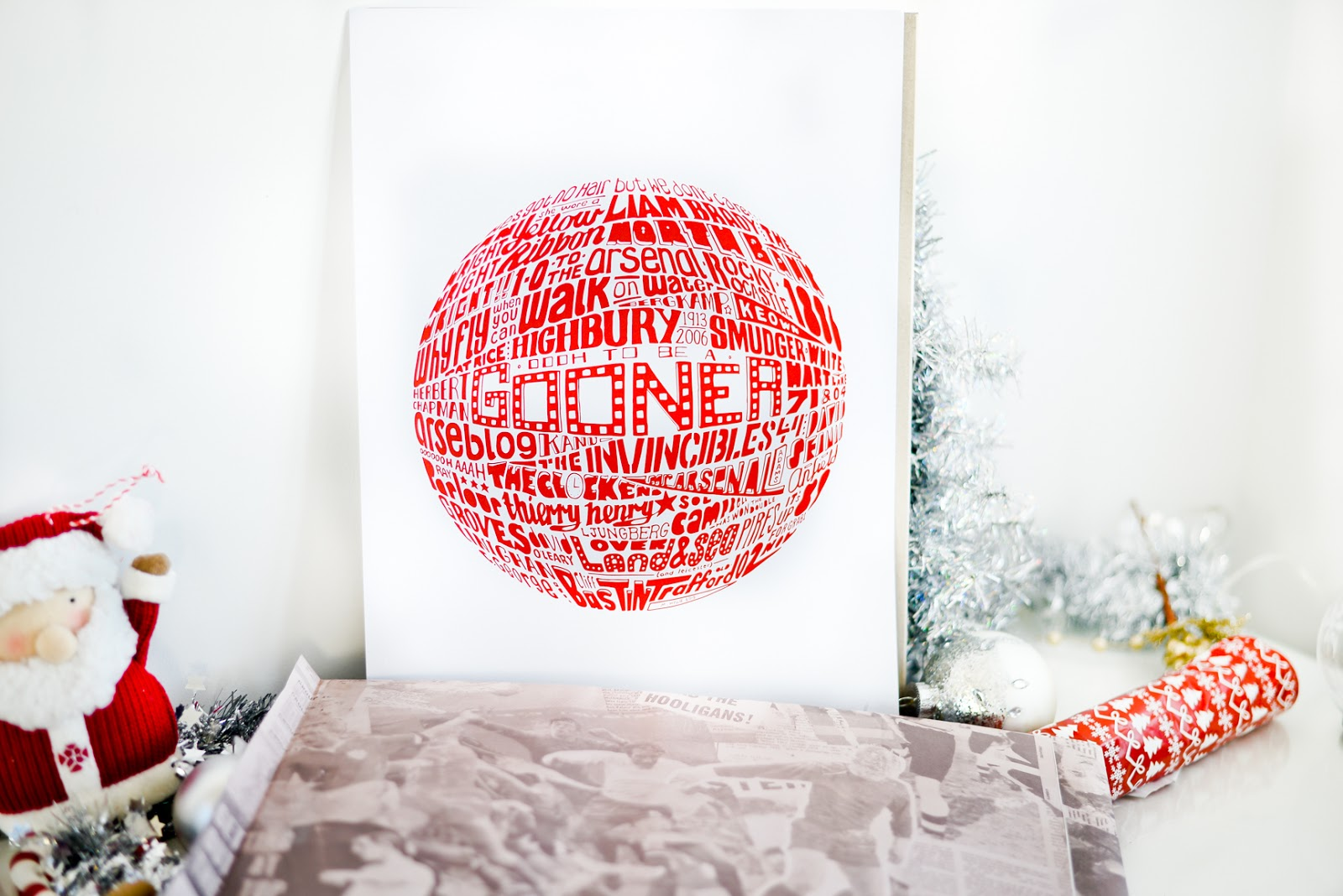 art of football, football prints, arsenal gifts