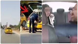 (بالفيديو) فظيع  سائق تاكسي يقوم بتحويل وجهة فتاة و يعتدي بالسب و الشتم العنف الشّديد و يحاول اختطافها....