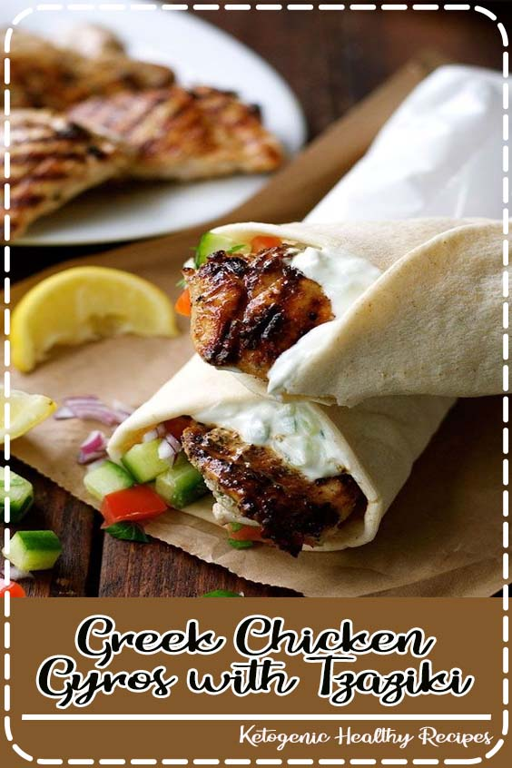 The marinade for the chicken is so sensational that I use it even when I Greek Chicken Gyros with Tzaziki