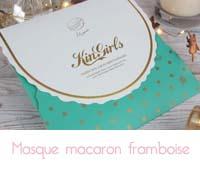 Masque Kingirls macaron framboise