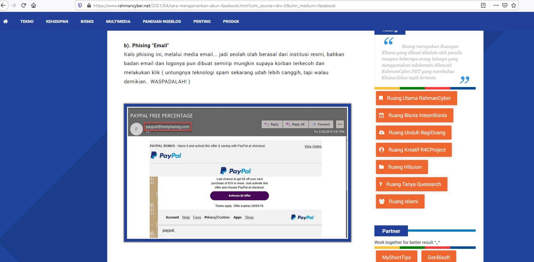 Mengatasi Phising Email