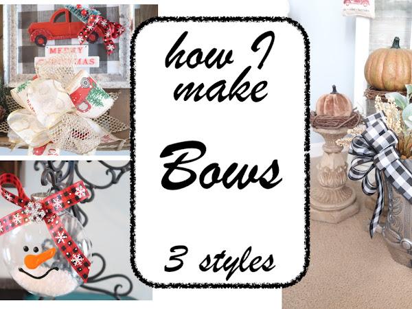 DIY Bows - How I make my Bows Tutorial - 3 styles