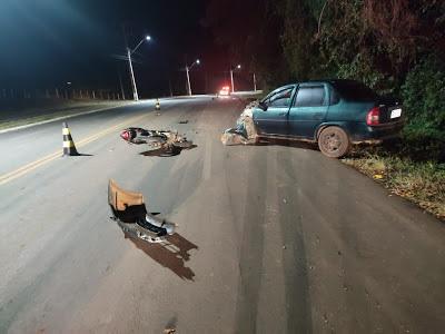 Motociclista morre em grave acidente na PR-456, em Palmital - PR