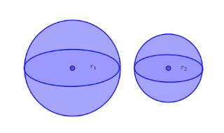 menentukan perbandingan volume bola