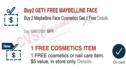 Maybelline CVS crt Coupon (Select CVS Couponers)
