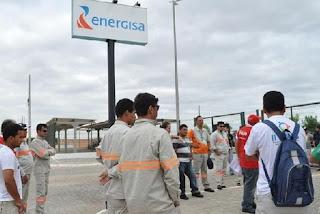 Resultado de imagem para trabalhadores da energisa entram em greve