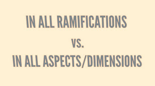 "The Reason Why ""In all ramifications"" Does Not Mean ""In all aspects"" Except in Metaphorical Sense"
