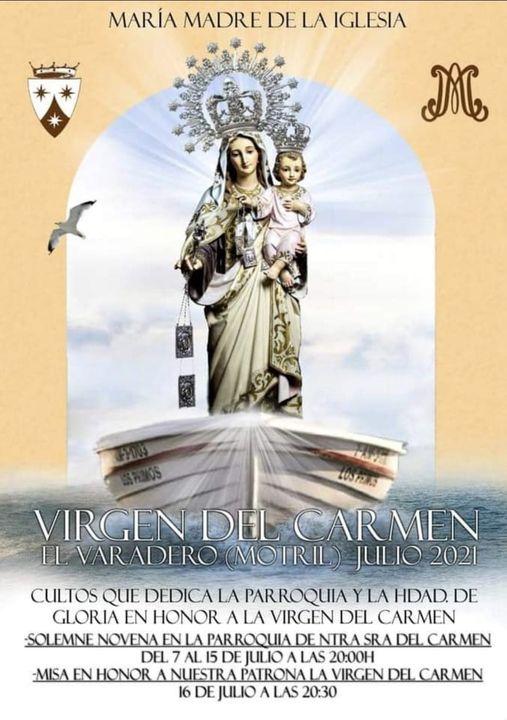 Cartel de la festividad de la Virgen del Carmen 2021 de El Varadero (Motril)