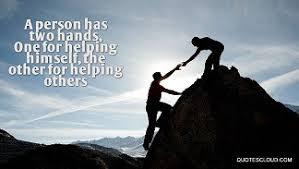 helping someone