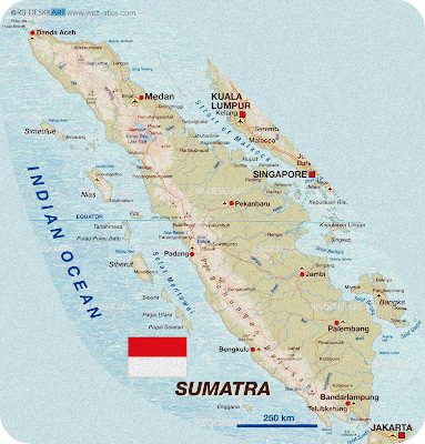 Kondisi Geografis Pulau Sumatra Berdasarkan Peta (Luas, Batas, Keadaan Alam)