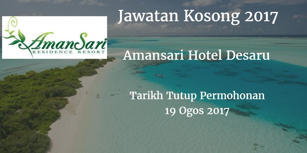Jawatan Kosong Amansari Hotel Desaru 19 Ogos 2017