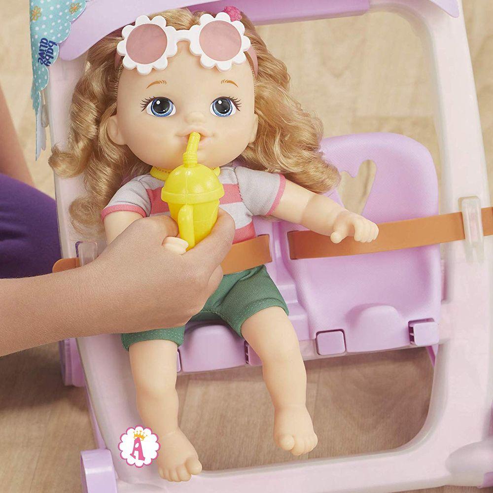 Baby Alive Littles Ana пупсик с коляской и аксессуарами